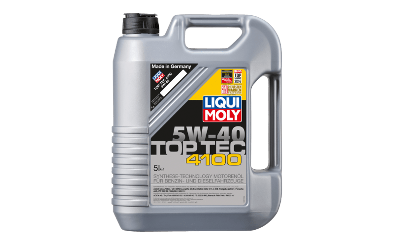 Olej silnikowy Liqui Moly Toptec 4100 5W40 Ranking olejów